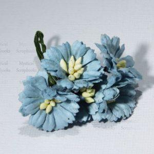 Mulberry Flowers - Cosmon Daisy - Blue