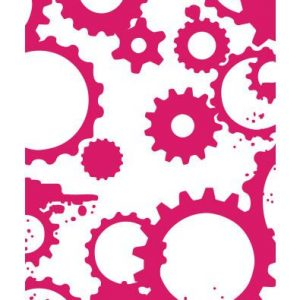 Couture Creations - Embossing Folder - Grungy Cogs n Gears