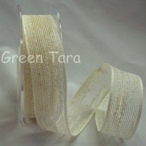 Coloured Jute 25mm - Ivory