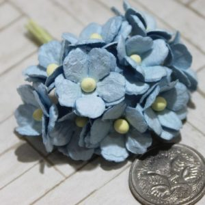 Mulberry Flowers - Sweetheart Blossoms - Blue