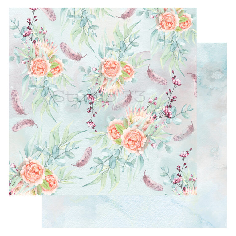 Studio 73 - A Touch of Spring - Feathers & Flowers