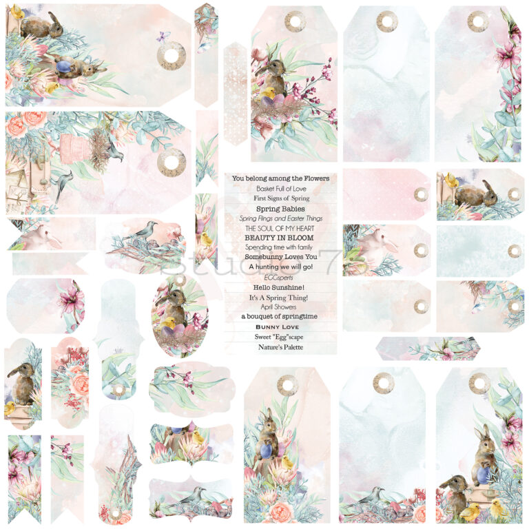 Studio 73 - A touch of Spring - Tags, Titles & Shapes