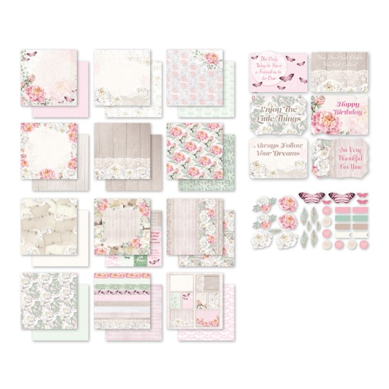 Couture Creations - Peaceful Peonies - Collection Pack