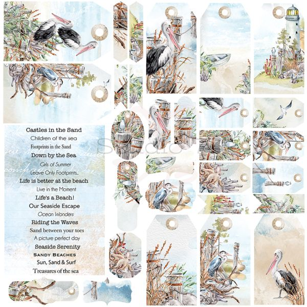 Studio 73 - Seaside Serenity - Tags, Titles & Cut Outs