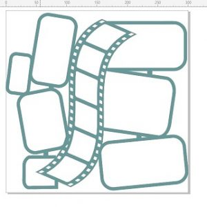 Memory Maze - Film strip higgeldy Piggedly - 12X12
