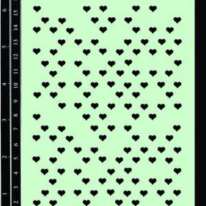 Dusty Attic Stencil - Mini Hearts
