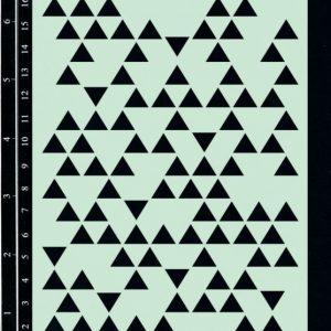 Dusty Attic Stencil - Triangles