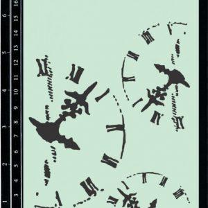 Dusty Attic Stencil - Clockworkds #2