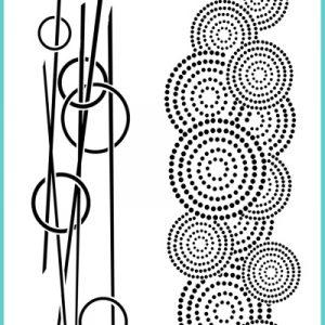 Colour Blast - Arty Farty - Encircled Stencil A4