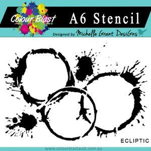 Colour Blast - Arty Farty - Ecliptic - A6 Stencil