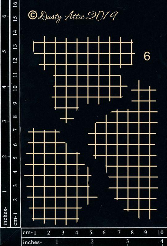 Dusty Attic - Broken Bits Grid  #6