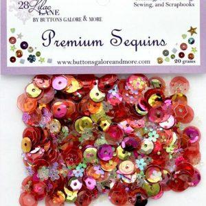 28 Lilac Lane Premium Sequins - Coral