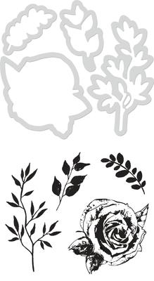 Kaisercraft Decorative Dies & Stamp - Rose