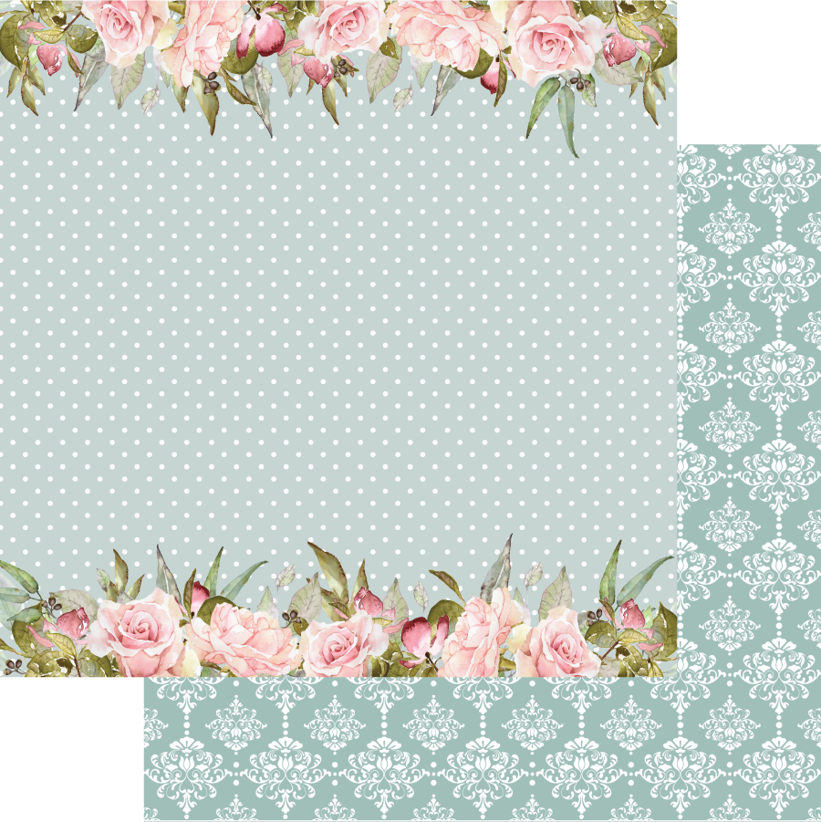 Uniquely Creative - Gums & Roses - Paper - Rosebud Boarders