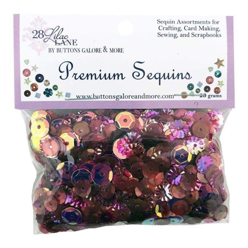 28 Lilac Lane Premium Sequins - Wine