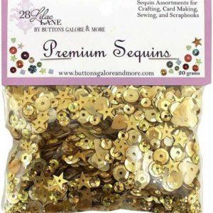 28 Lilac Lane Premium Sequins - Golden