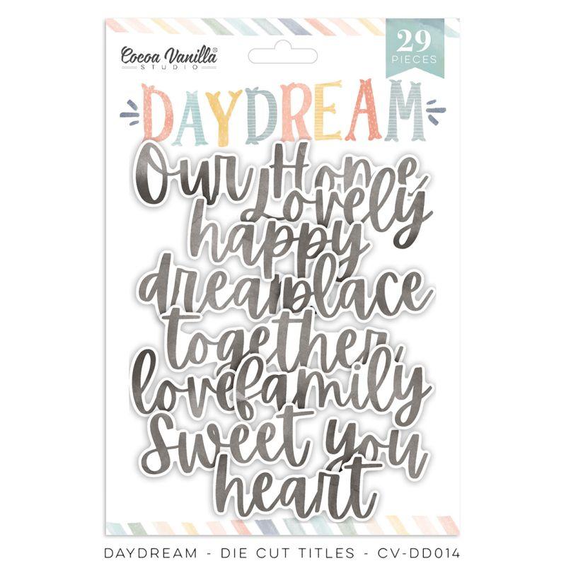 Cocoa Vanilla - Daydream - Paper - Die Cut Titles