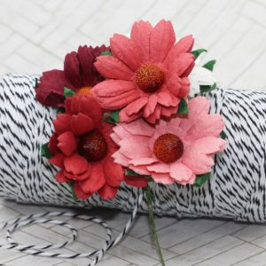 Mulberry Flowers - Chrysanthemum Mixed Set - Reds & White