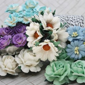 Mulberry Flowers - Mixed Bag - Set A White Plus