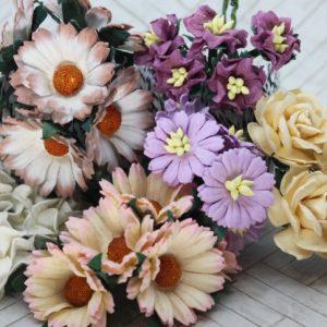 Mulberry Flowers - Mixed Bag - Set B Cream Plus