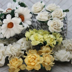 Mulberry Flowers - Mixed Bag - Set B White & Yellow