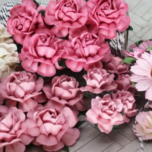 Mulberry Flowers - Mixed Bag - Set C Pink & White