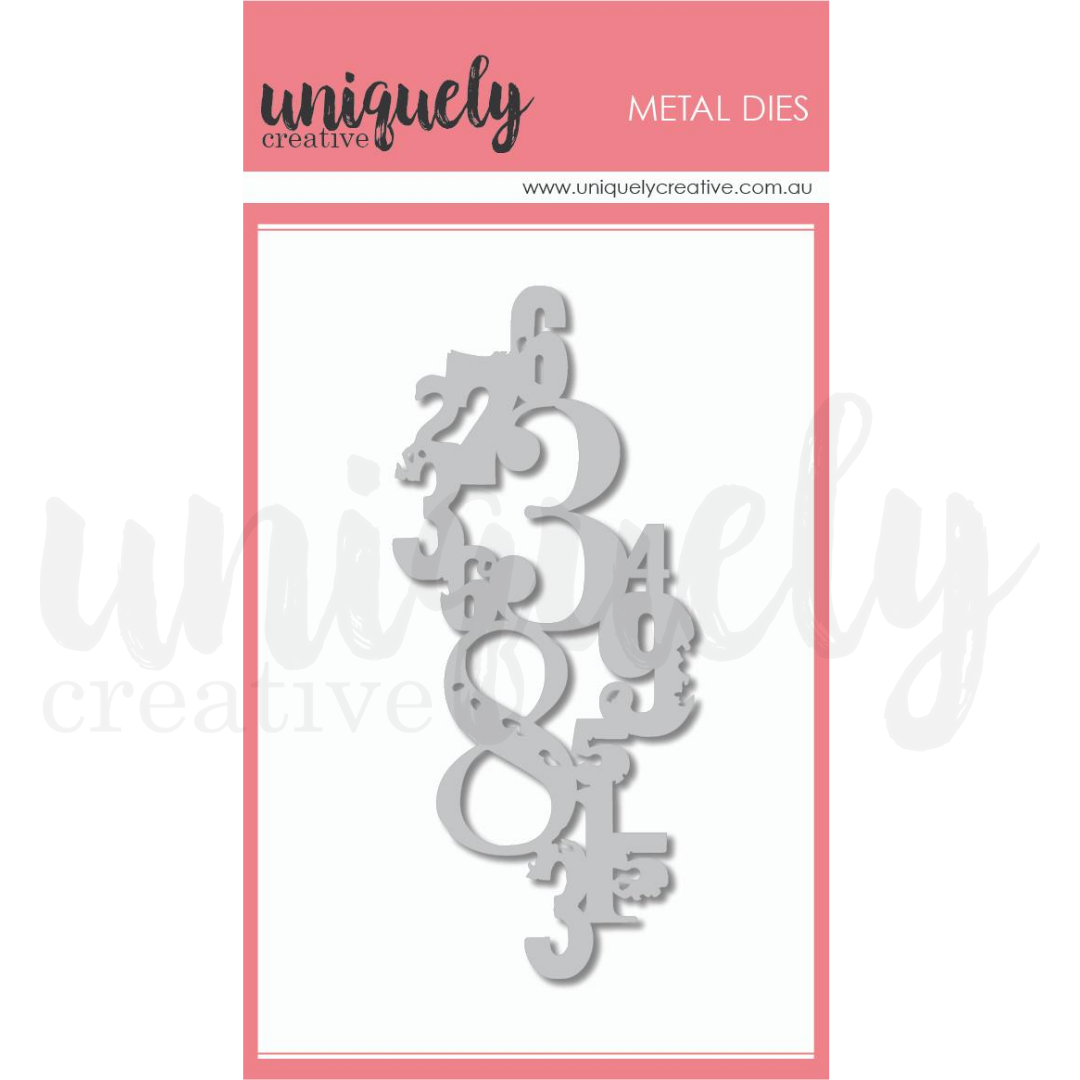 Uniquely Creative - Grungy Numbers Die