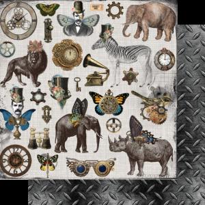 Uniquely Creative - Steampunk Safari Paper - Ephemera King