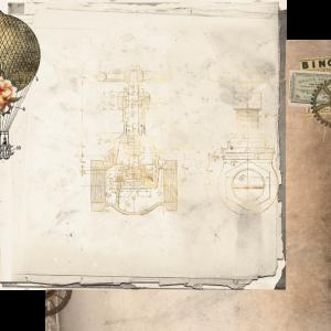 Uniquely Creative - Steampunk Safari Paper- Technical