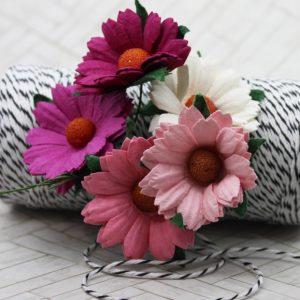 Mulberry Flowers - Chrysanthemum Mixed Set - Pinks & White