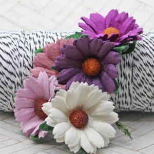 Mulberry Flowers - Chrysanthemum Mixed Set - Purple/Lilac/White