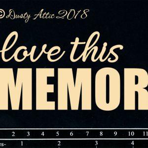 Dusty Attic - Love this Memory