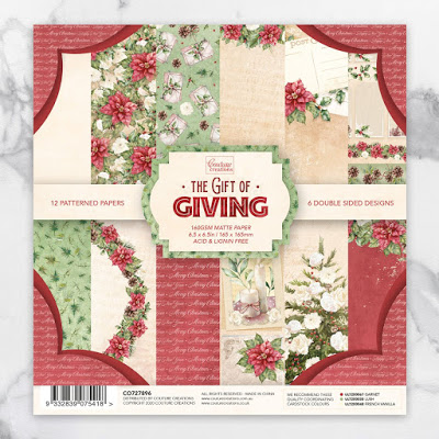 Couture Creations - The Gift of Giving  Paper Pad - 6.5x6.5
