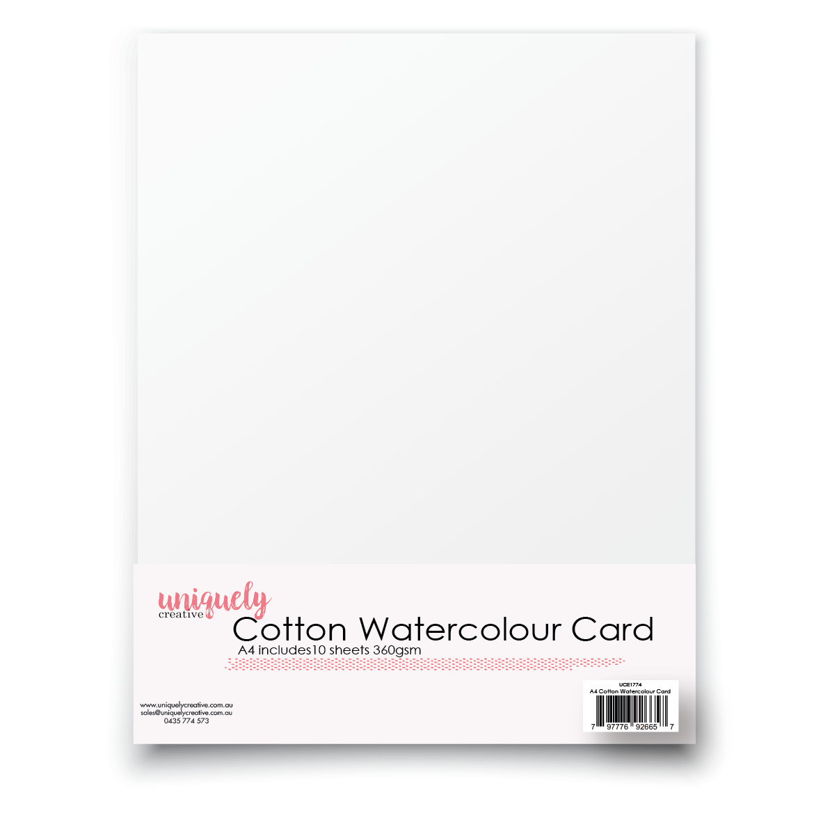 Uniquely Creative - A4 Cotton Watercolour Card