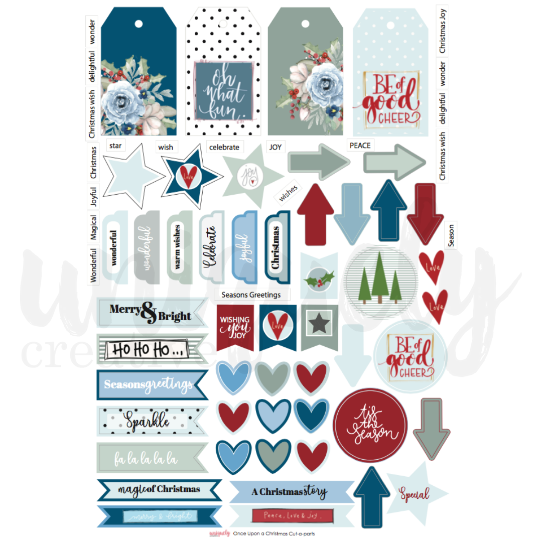 Uniquely Creative - Once upon a Christmas - Cut-a-Part Sheet