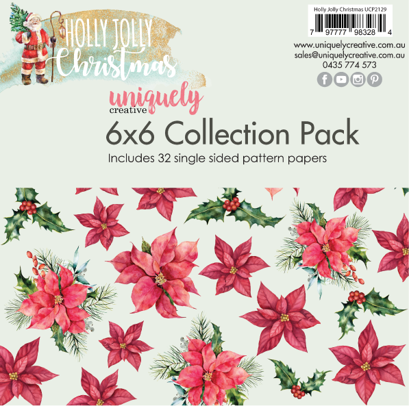 Uniquely Creative - Holly Jolly Christmas 6x6 Collection Pack