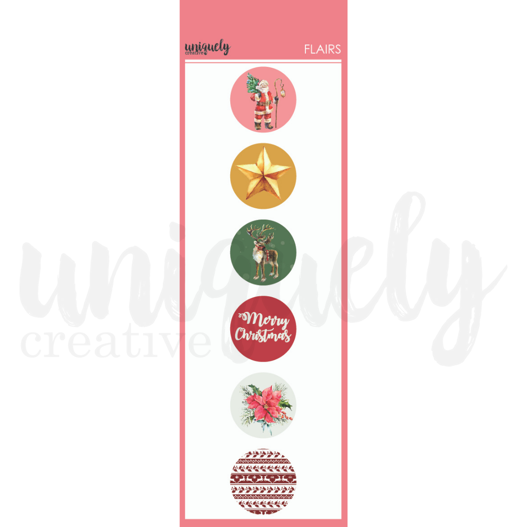 Uniquely Creative - Holly Jolly Christmas - Flairs