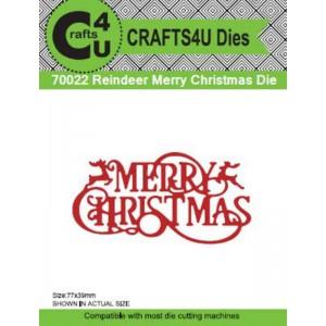Craft4U - Die - Reindeer Merry Christmas