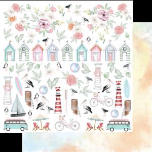 Uniquely Creative - Ocean Breeze - Paper - Fussy Cuts