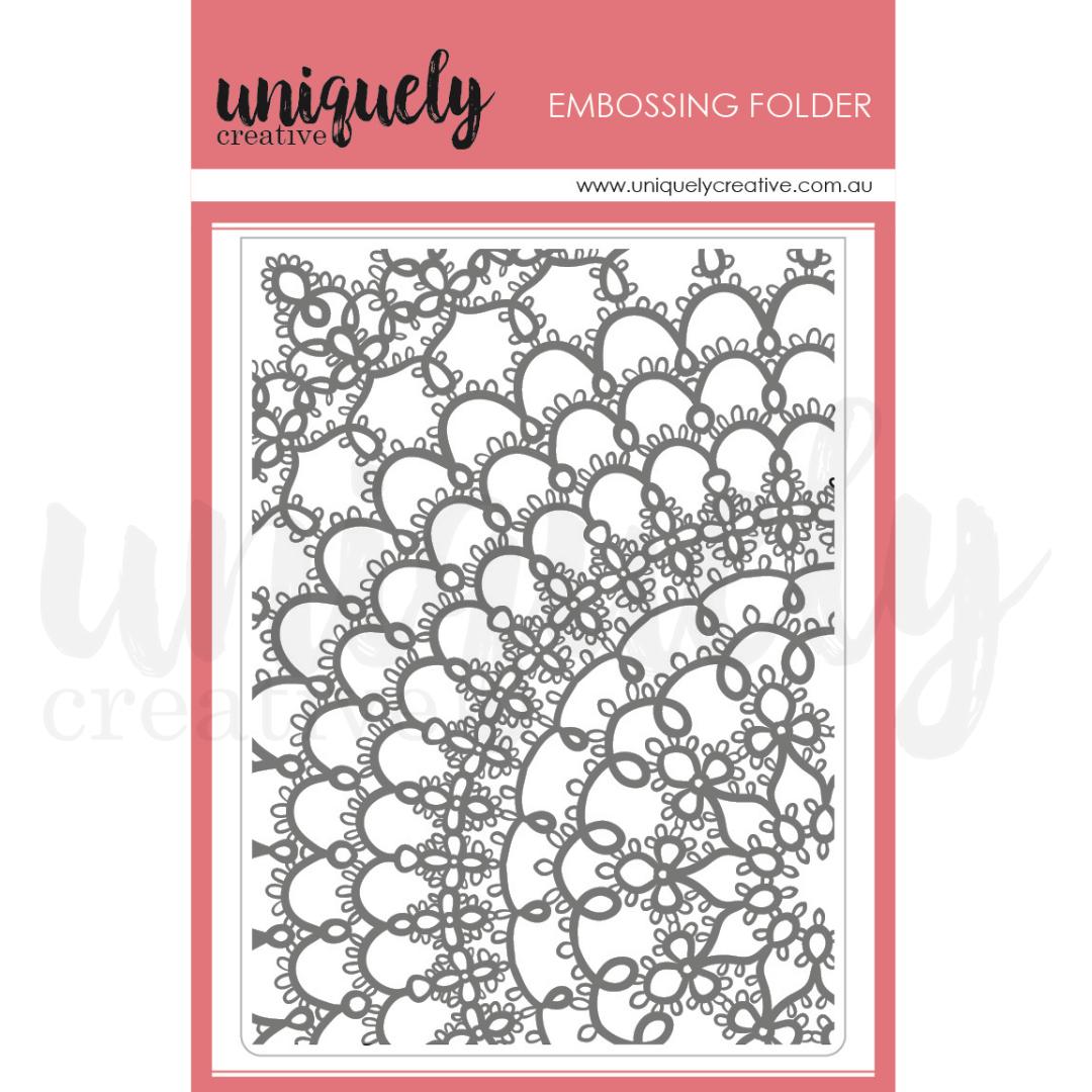 Uniquely Creative - Serendipity - Embossing Folder - Napery