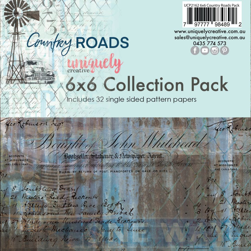 Uniquely Creative - Country Roads - 6x6 Collection pack