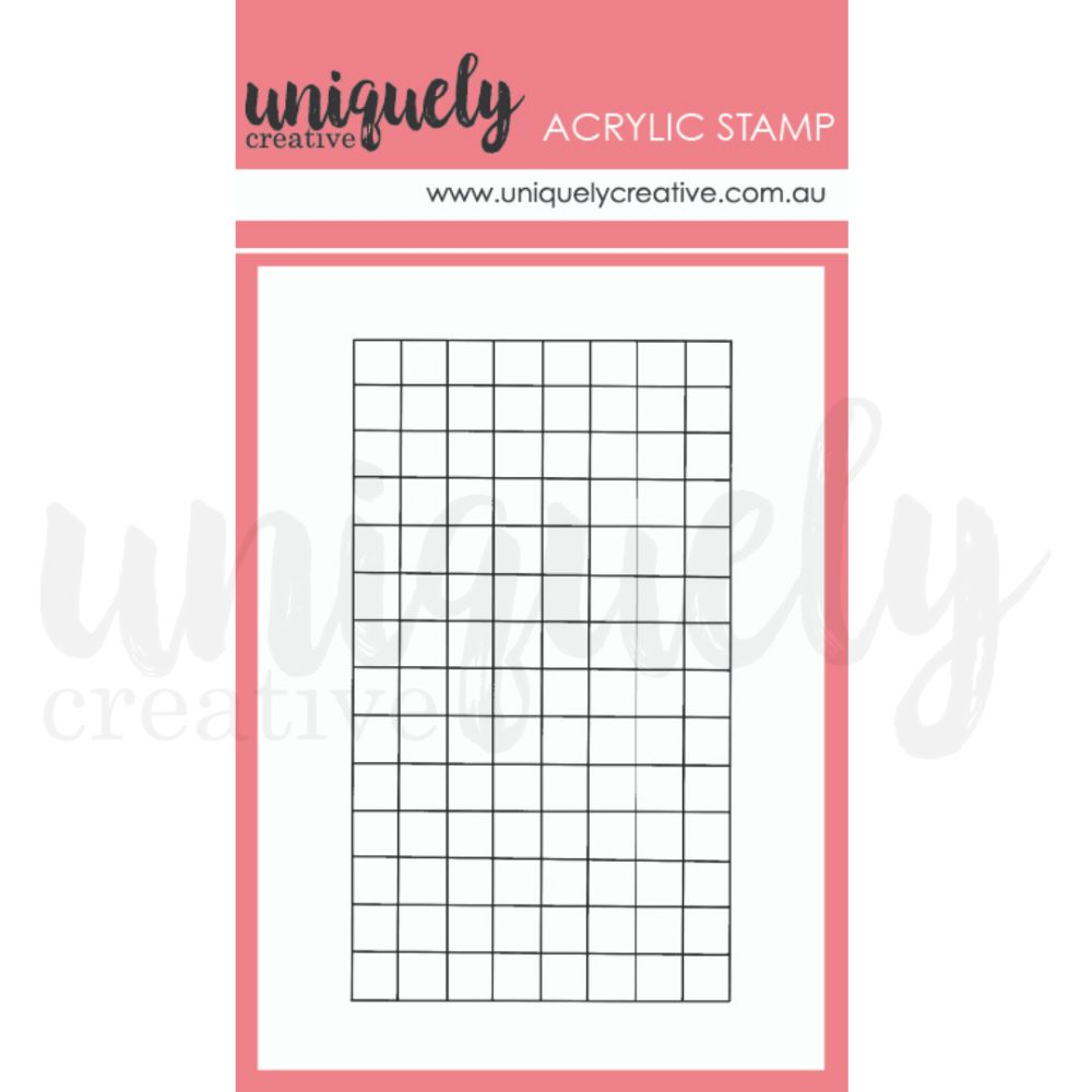 Uniquely Creative - Country Roads - Mini Stamp - Grid Marking