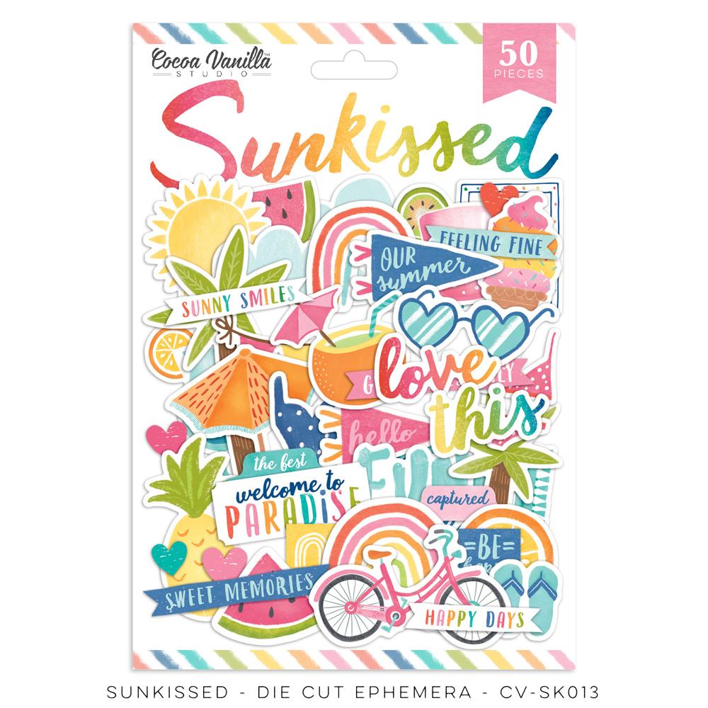 Cocoa Vanilla - Sunkissed - Die Cut Ephemera