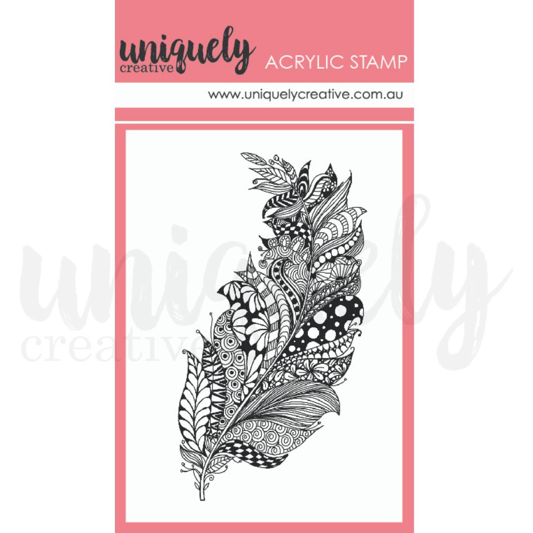 Uniquely Creative -Zentangle Feathers Mini Mark Stamp