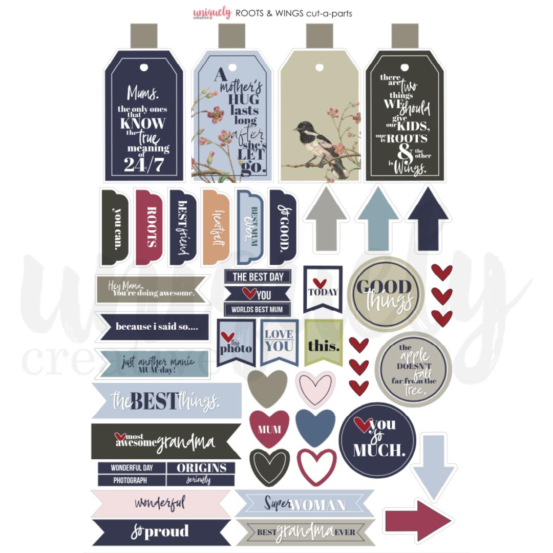 Uniquely Creative - Roots & Wings - Cut-a-Part Sheet